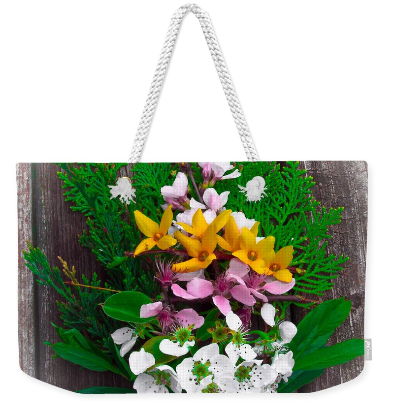 Spring Weekender Tote Bag featuring the photograph Spring Bouquet by Scott Hervieux