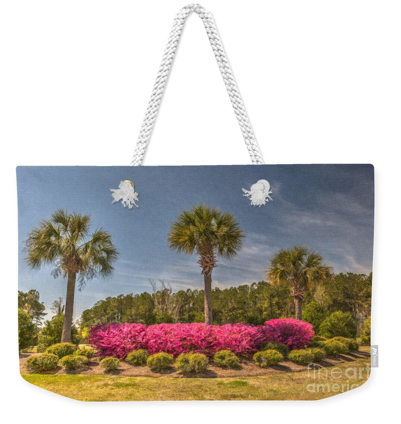 Palmetto Weekender Tote Bag featuring the photograph Spring Time In Charleston by Dale Powell