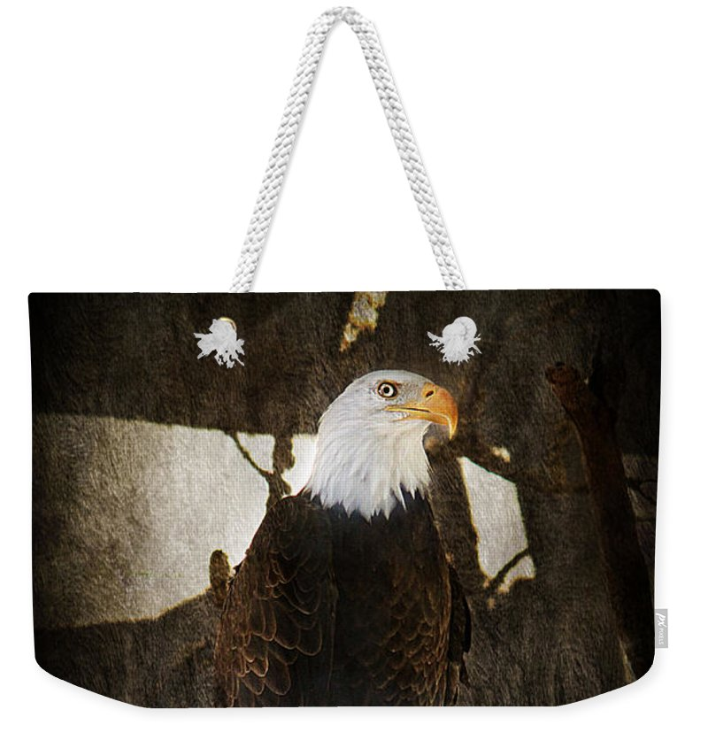Eagle Weekender Tote Bag featuring the photograph Standing Proud by Melanie Lankford Photography