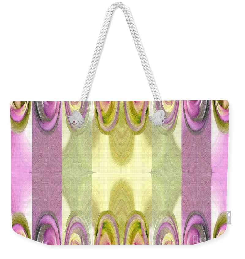Dahlia Weekender Tote Bag featuring the painting Star Elite Abstract by J McCombie