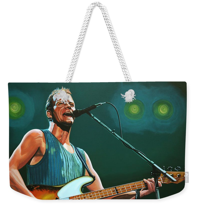 Sting Weekender Tote Bag featuring the painting Sting by Paul Meijering