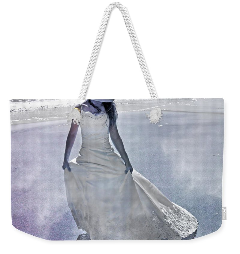 Topsail Weekender Tote Bag featuring the photograph Strolling In Paradise by Betsy Knapp