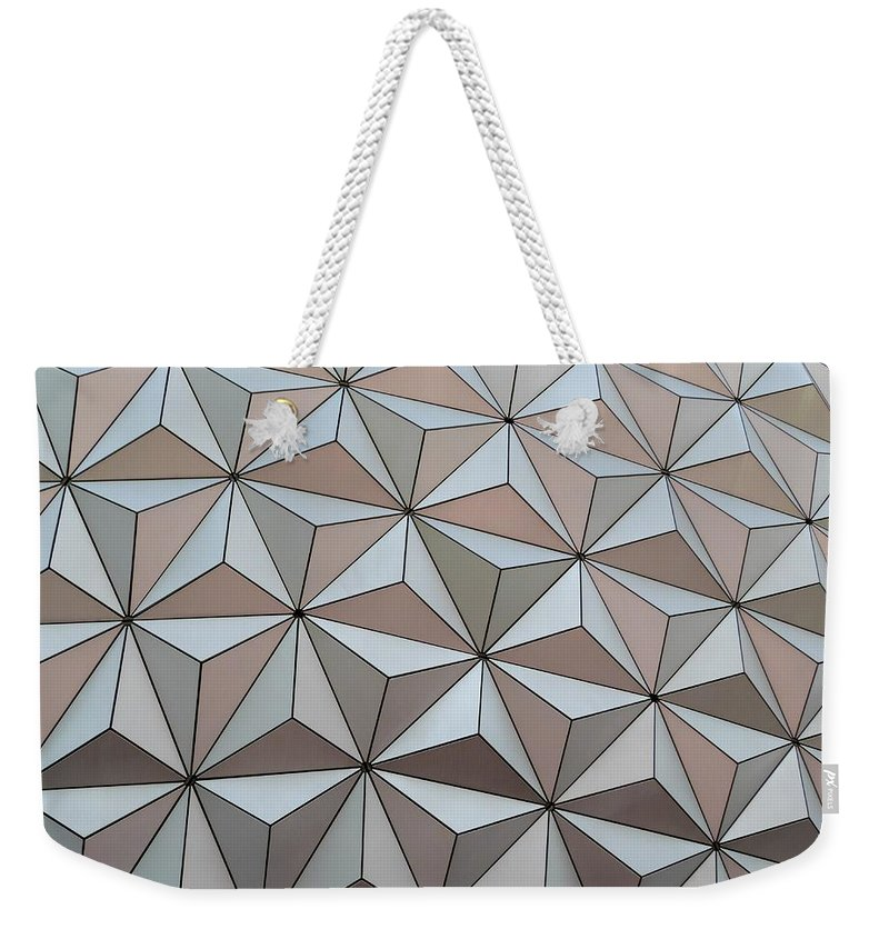Color Weekender Tote Bag featuring the photograph Sub Triangles by Amar Sheow
