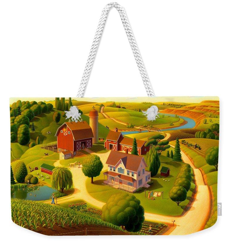 Rural Scene Weekender Tote Bags
