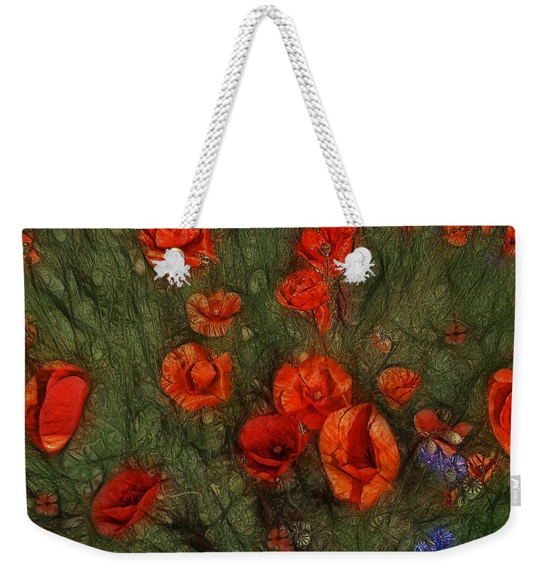 Corn Poppy Weekender Tote Bag featuring the photograph Summer Wind by Joachim G Pinkawa