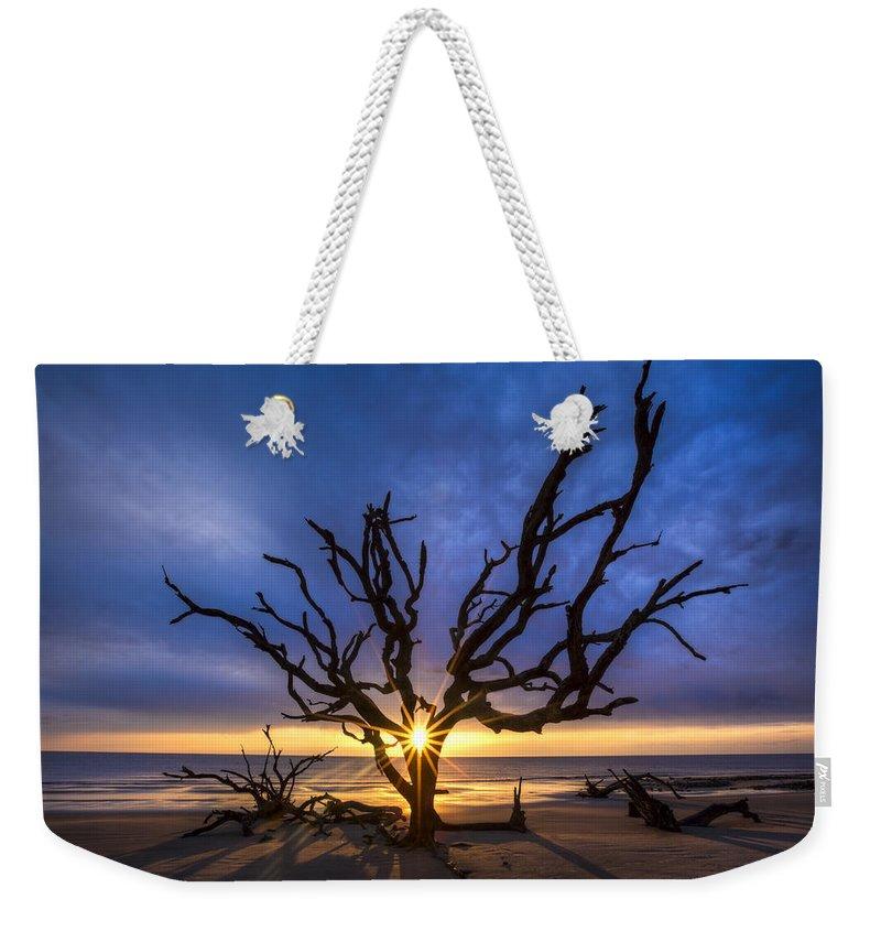 Clouds Weekender Tote Bag featuring the photograph Sunrise Jewel by Debra and Dave Vanderlaan