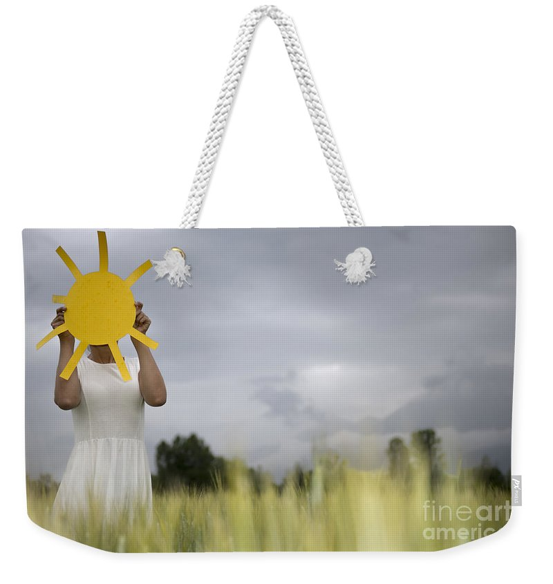 Woman Weekender Tote Bag featuring the photograph Sunshine by Mats Silvan