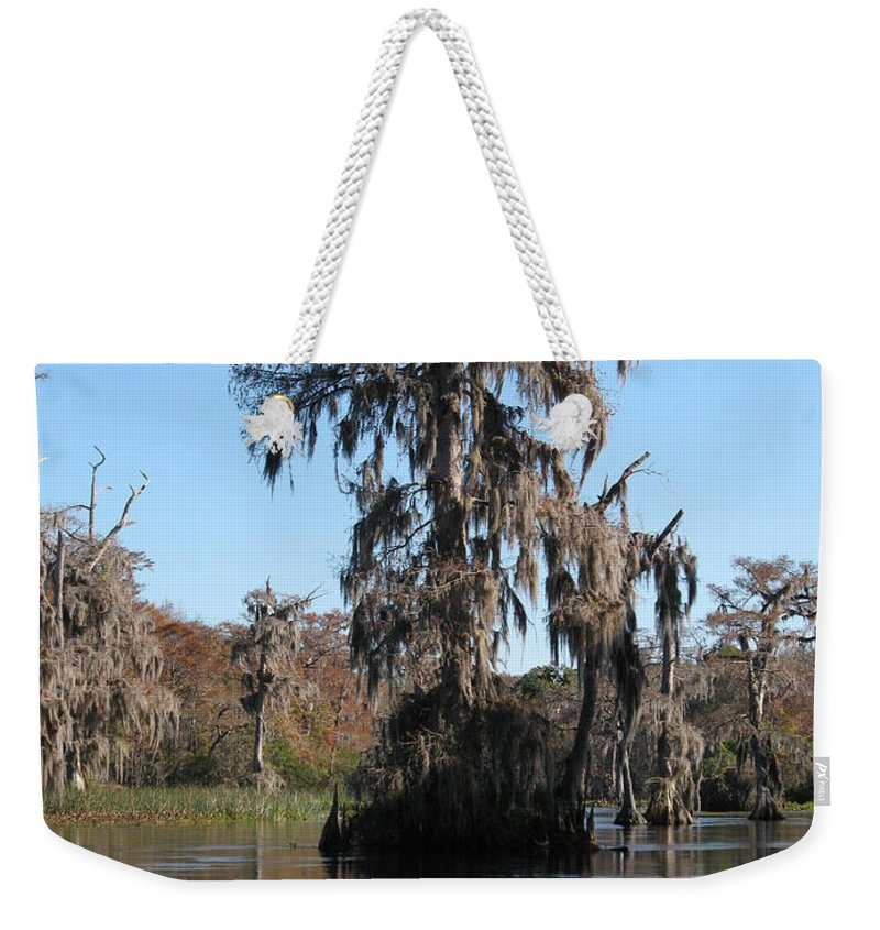 Swamp Weekender Tote Bag featuring the photograph Walkula Springs Reflection by Christiane Schulze Art And Photography