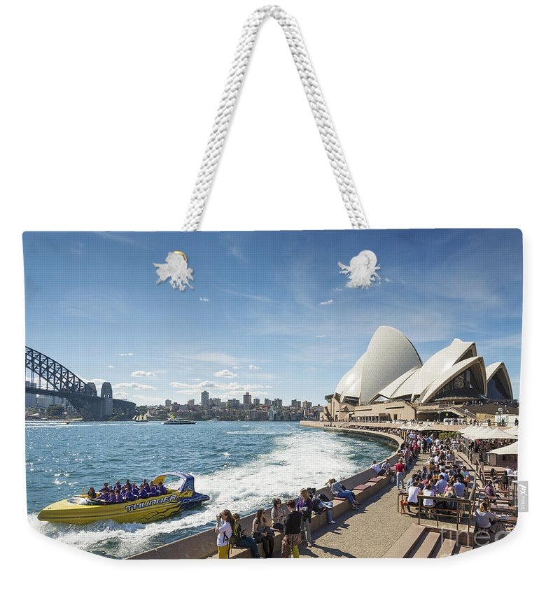 Architecture Weekender Tote Bag featuring the photograph Sydney Harbour In Australia By Day by Jacek Malipan