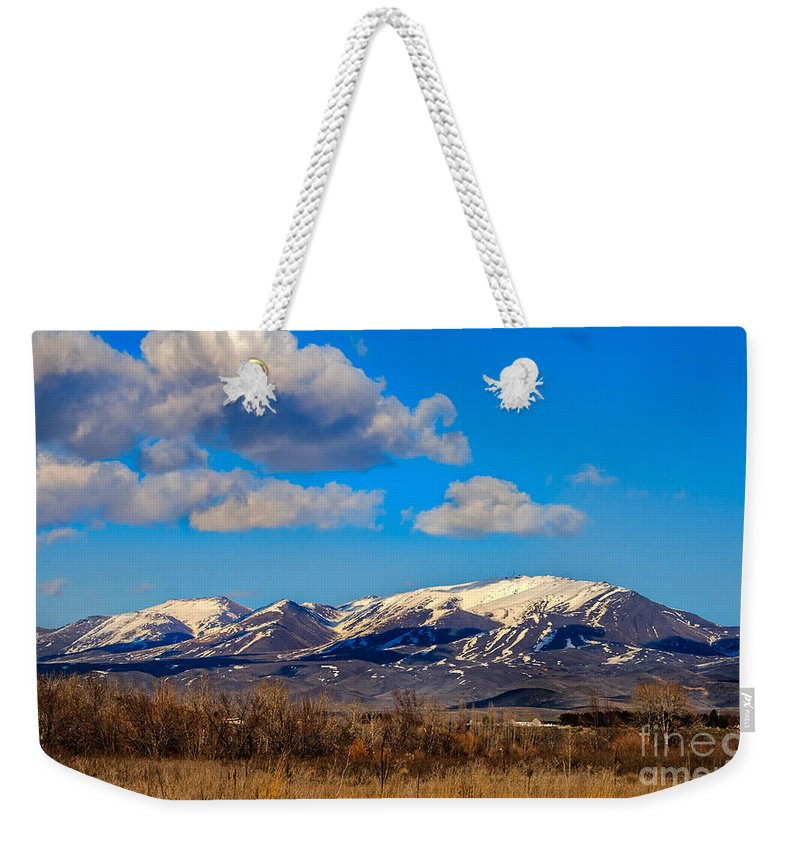 Gem County Weekender Tote Bag featuring the photograph The Butte by Robert Bales