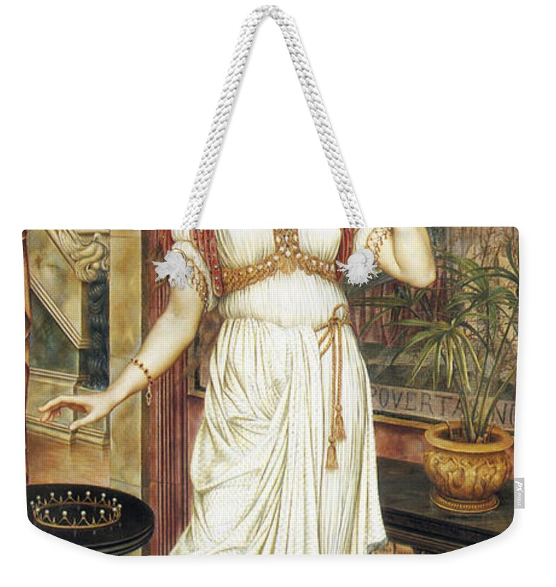Evelyn De Morgan Weekender Tote Bag featuring the painting The Crown Of Glory by Evelyn De Morgan