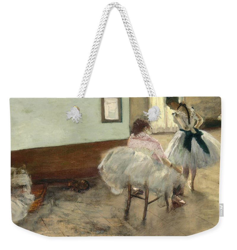 Art Weekender Tote Bag featuring the painting The Dance Lesson by Mountain Dreams
