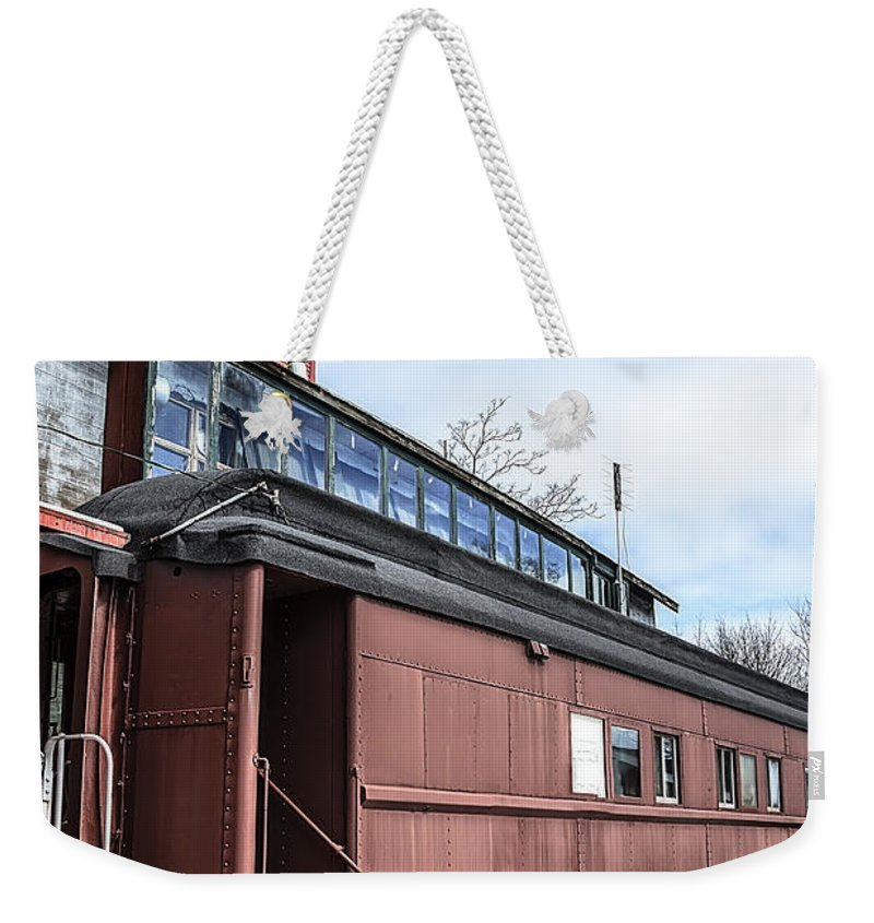 Usa Weekender Tote Bag featuring the photograph The Grand Trunk Western Depot by LeeAnn McLaneGoetz McLaneGoetzStudioLLCcom