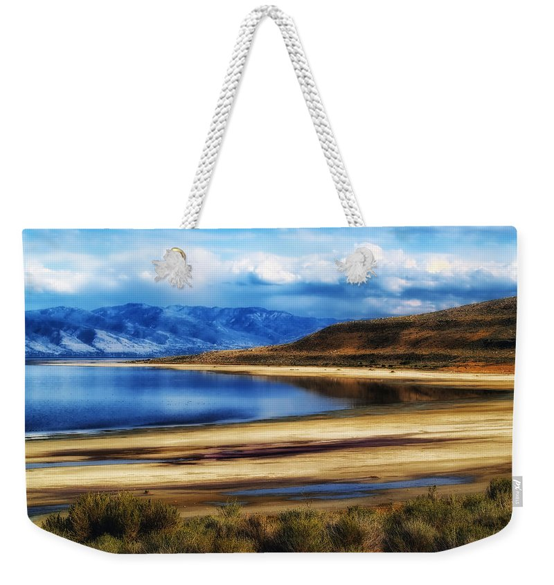 Utah Weekender Tote Bag featuring the photograph The Great Salt Lake by Mountain Dreams