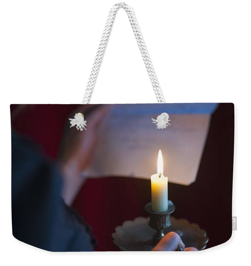 Woman Weekender Tote Bag featuring the photograph The Love Letter by Lee Avison