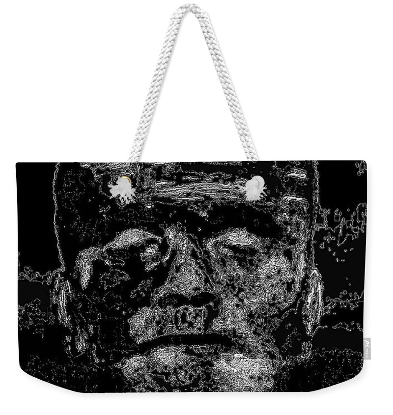 Digital Weekender Tote Bag featuring the digital art The Monster by Alys Caviness-Gober