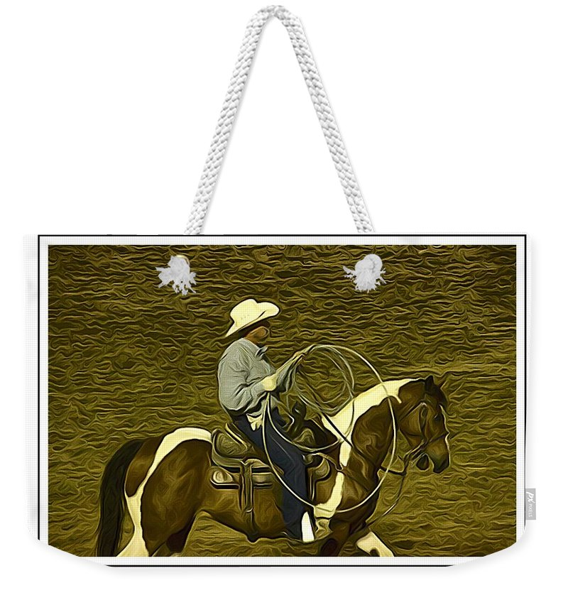Horse Weekender Tote Bag featuring the photograph The Roper by Alice Gipson