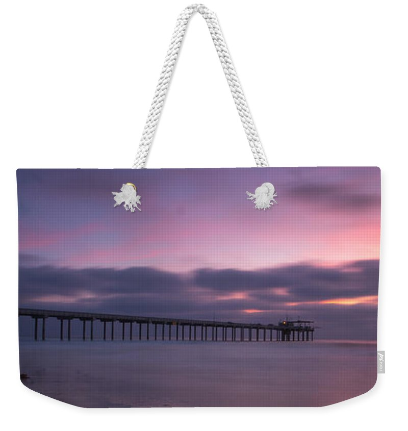 Architecture Weekender Tote Bag featuring the photograph The Scripps Pier by Peter Tellone