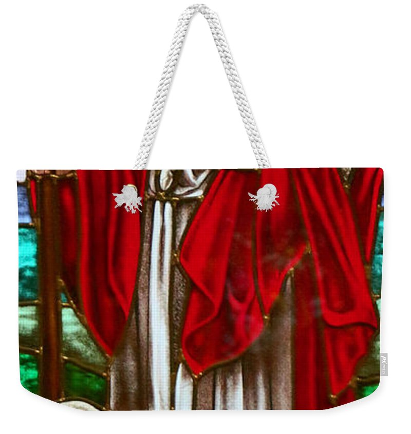 Stained Glass Weekender Tote Bag featuring the photograph The Shepherd by Munir Alawi