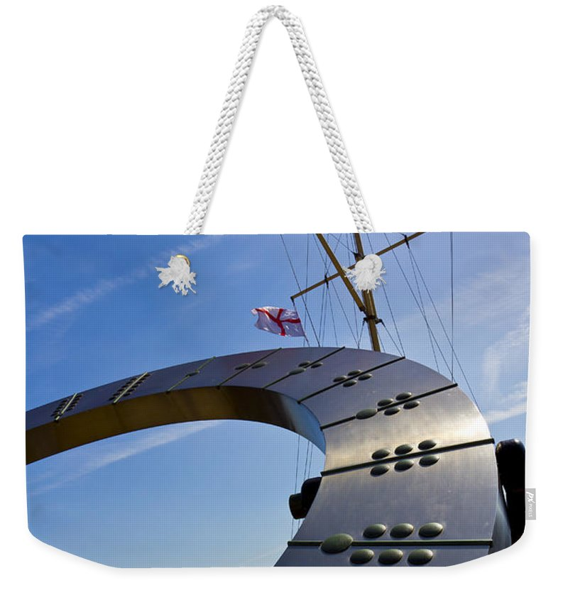 Sun Weekender Tote Bag featuring the photograph The Sundial by David Pyatt