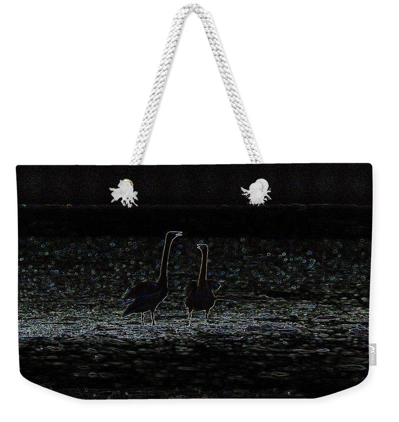 Cygnus Cygnus Weekender Tote Bag featuring the photograph The Swan Of Tuonela by Jouko Lehto