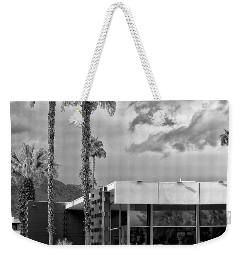 Ocitillo Lodge Weekender Tote Bag featuring the photograph The View Palm Springs by William Dey