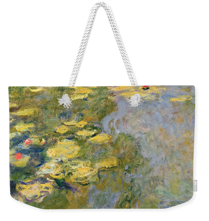 Impressionist Weekender Tote Bag featuring the painting The Waterlily Pond by Claude Monet