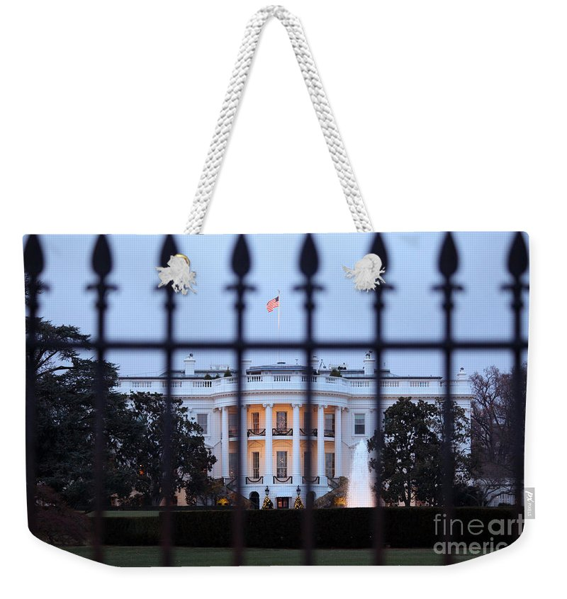 Capital Weekender Tote Bag featuring the photograph The White House by Bill Cobb