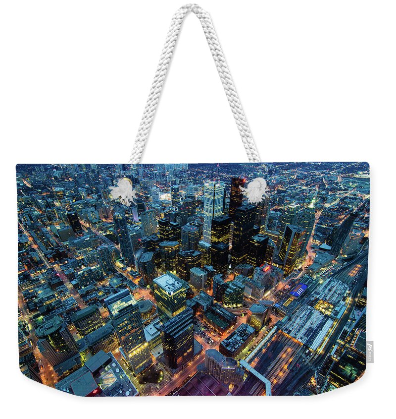 Toronto Weekender Tote Bag featuring the photograph Toronto by Naeem Jaffer