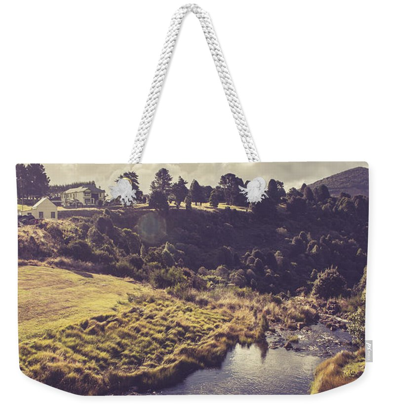 Australia Weekender Tote Bag featuring the photograph Town Of Waratah In Tasmania Australia by Jorgo Photography - Wall Art Gallery
