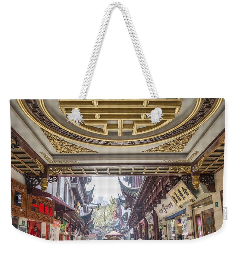 Architecture Weekender Tote Bag featuring the photograph Traditional Shopping Area In Shanghai China by Jacek Malipan