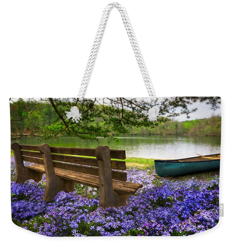 Appalachia Weekender Tote Bag featuring the photograph Tranquility by Debra and Dave Vanderlaan