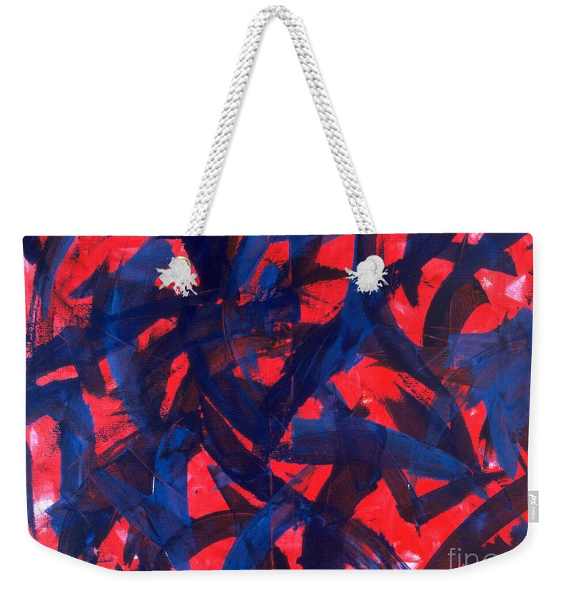 Abstract Weekender Tote Bag featuring the painting Transitions VII by Dean Triolo