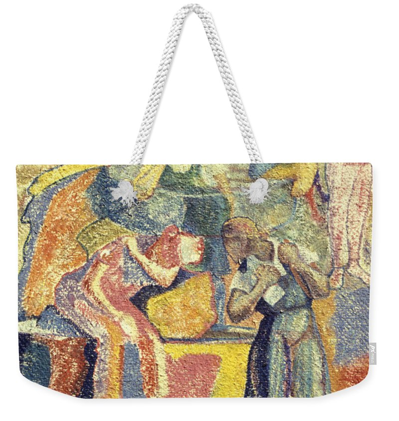 Johnpowellpaintings Weekender Tote Bag featuring the painting Trapped In Time by John Powell