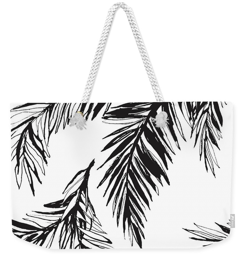 Tropical Rainforest Weekender Tote Bag featuring the digital art Tropical Jungle Floral Seamless by Sv sunny