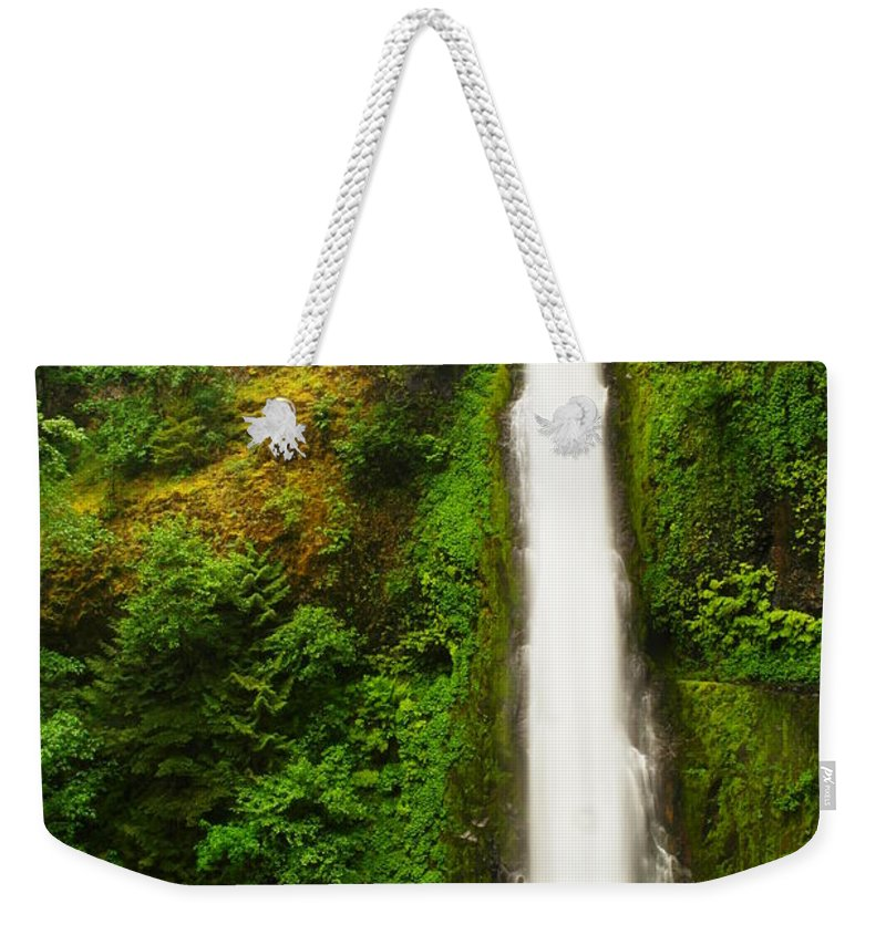 Tunnel Falls Weekender Tote Bag featuring the photograph Tunnel Falls 3 by Jeff Swan