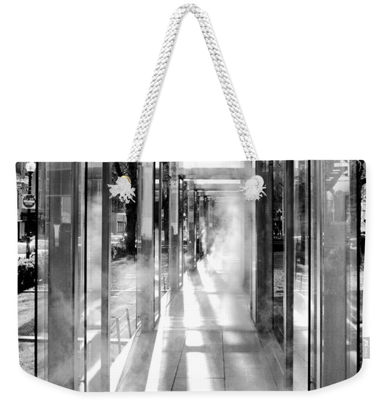 Boston Weekender Tote Bag featuring the photograph Tunnel Vision by Greg Fortier