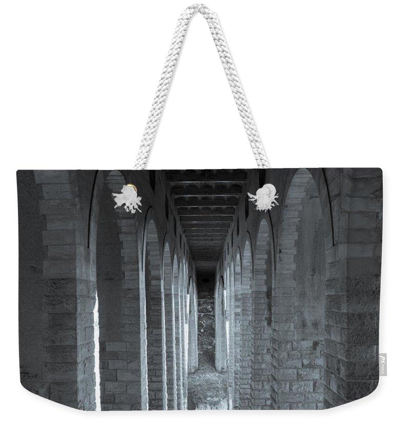 Bridge Weekender Tote Bag featuring the photograph Under The Bridge by Scott Hafer