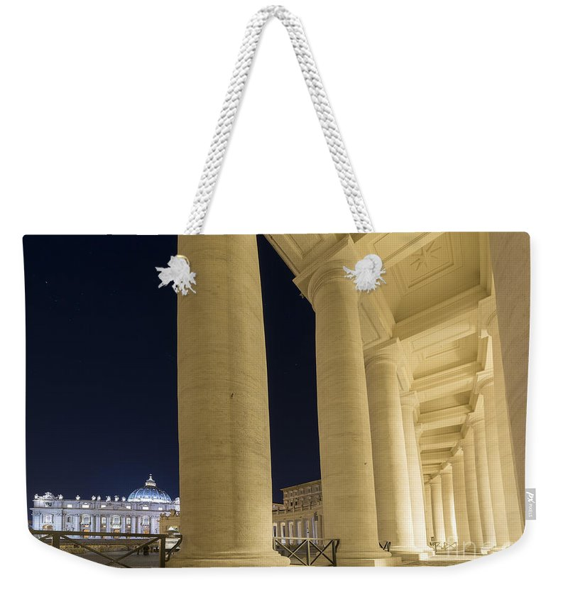 Church Weekender Tote Bag featuring the photograph Vatican City by Mats Silvan