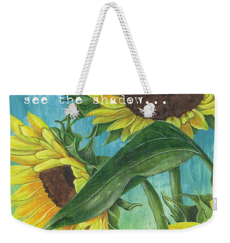 Flowers Weekender Tote Bag featuring the painting Vince's Sunflowers 1 by Debbie DeWitt