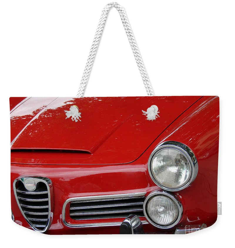 Antique Weekender Tote Bag featuring the photograph Vintage Car by Dan Radi