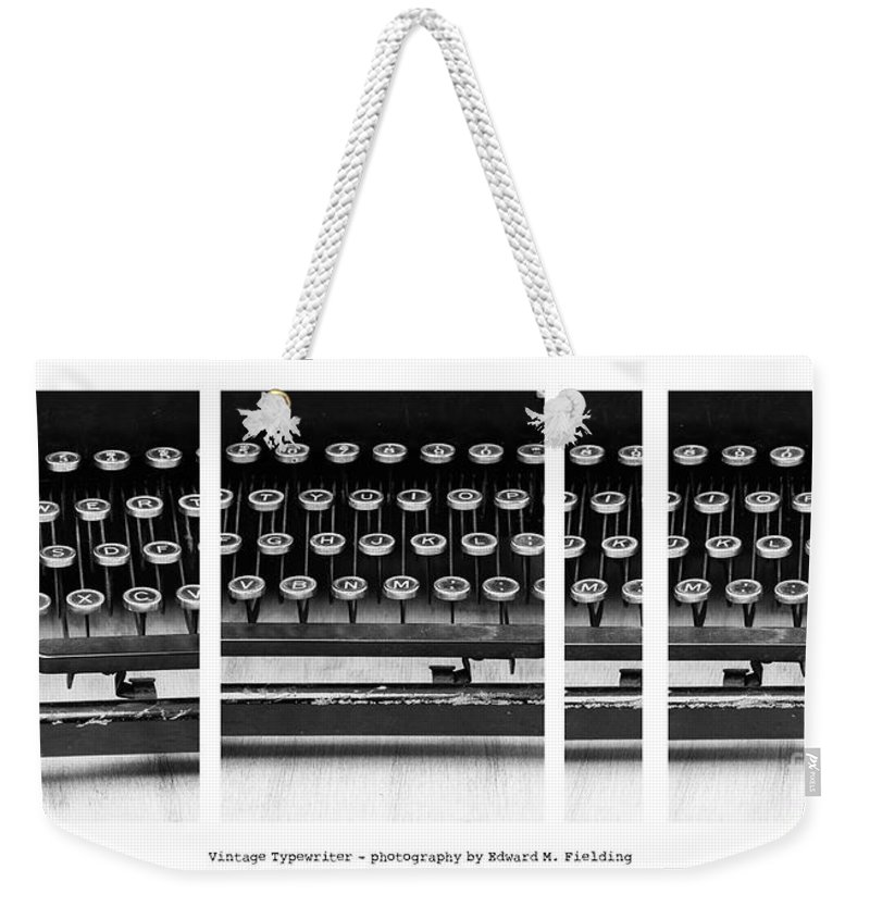 Typewriter Weekender Tote Bag featuring the photograph Vintage Typewriter by Edward Fielding