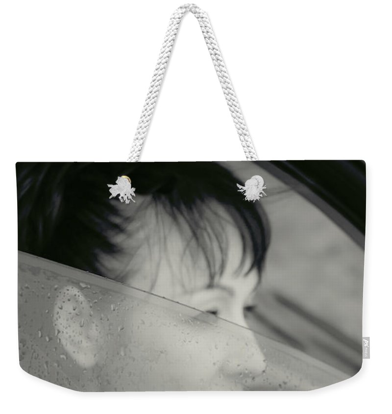 Lena Weekender Tote Bag featuring the photograph Waiting by Svetlana Sewell
