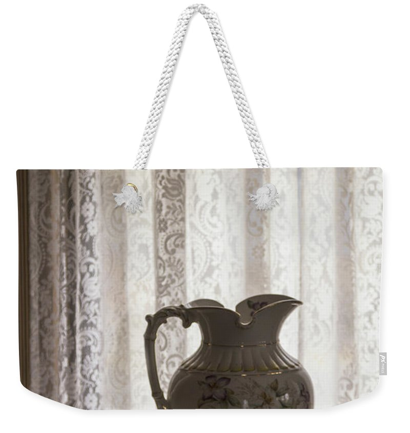 White Weekender Tote Bag featuring the photograph Wash Basin by Margie Hurwich