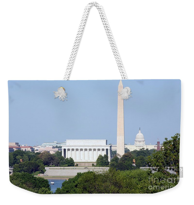 Capital Weekender Tote Bag featuring the photograph Washington Dc Skyline by Bill Cobb