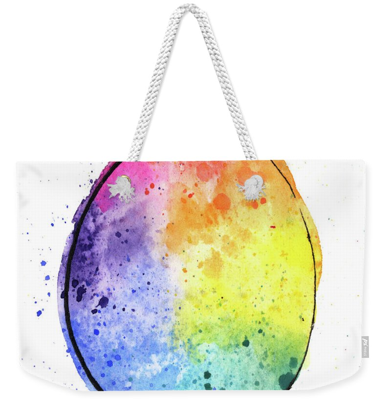 Watercolor Painting Weekender Tote Bag featuring the digital art Watercolor Painting Of A Colorful by Andrea hill