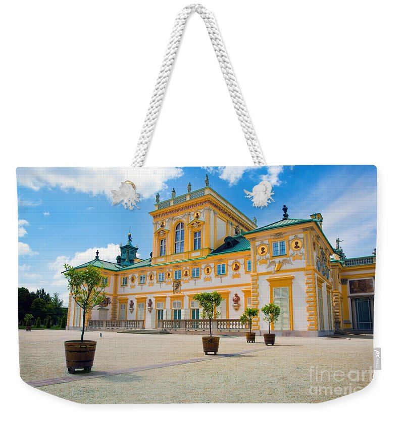 Warsaw Weekender Tote Bag featuring the photograph Wilanow Palace In Warsaw Poland by Michal Bednarek