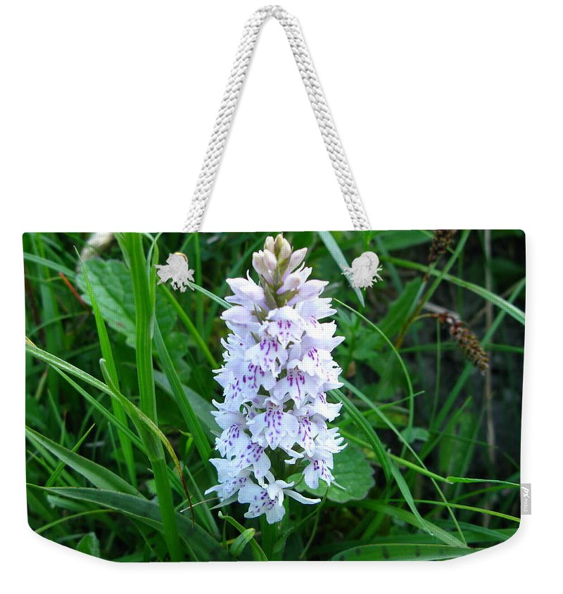 Wild Orchid Weekender Tote Bag featuring the photograph Wild Orchid by Maria Joy