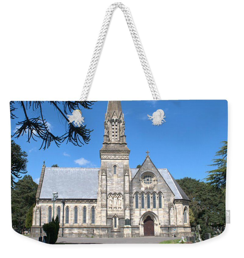 Chapel Weekender Tote Bag featuring the photograph Wimborne Road Cemetery by Chris Day