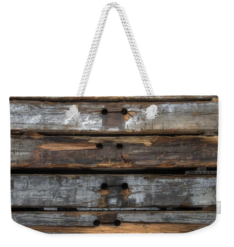 Wood Weekender Tote Bag featuring the photograph Wood by Jane Linders